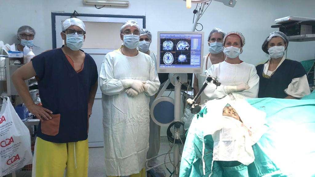 el equipo de cirugia de epilepsia del Hospital Español de Mendoza