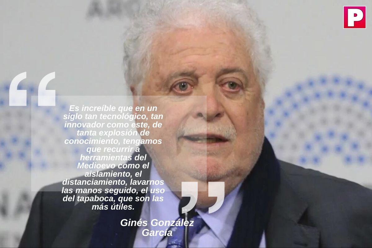 """Gines Gonzalez Garcia hablo sobre como sigue la cuarentena: """"Es deseable volver a fase 1 porque hay mucho movimiento"""""""