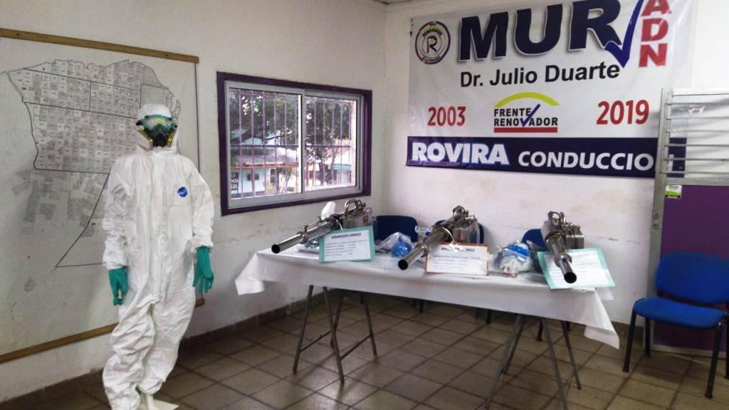 Coronavirus: el MUR entrego 10 equipos de fumigacion de alta densidad para ser utilizados en las localidades misioneras