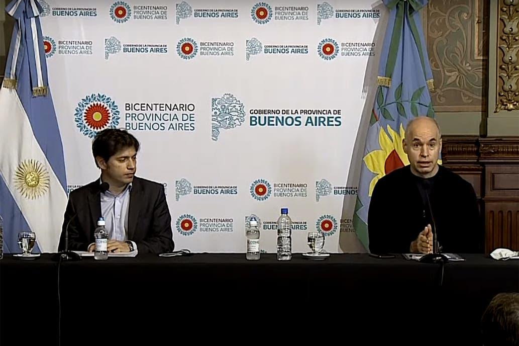 """Axel Kicillof y Horacio Rodriguez Larreta, sobre la situacion del AMBA: """"Si es necesario habra medidas mas drasticas"""""""