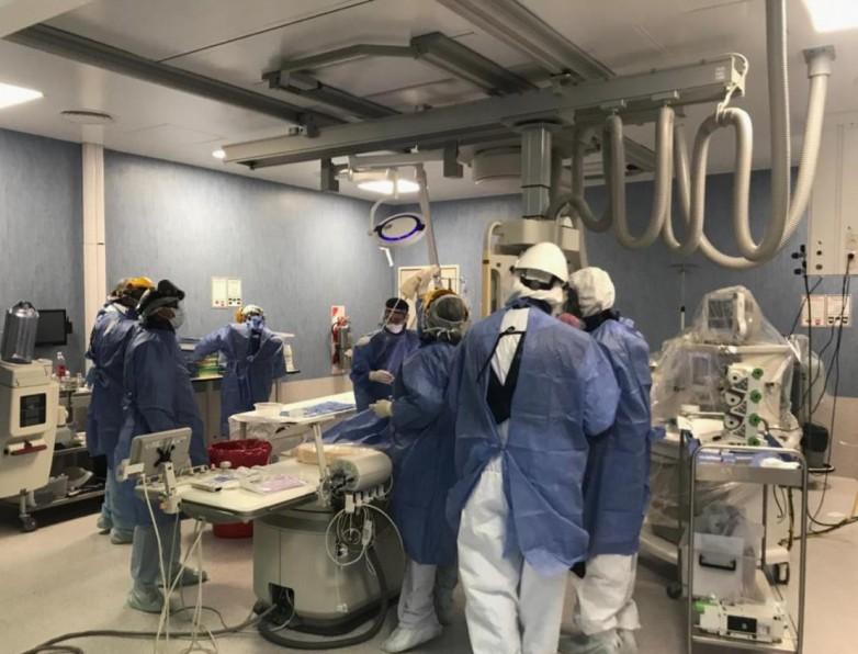 Realizaron cuatro intervenciones endovasculares en el Hospital Rawson