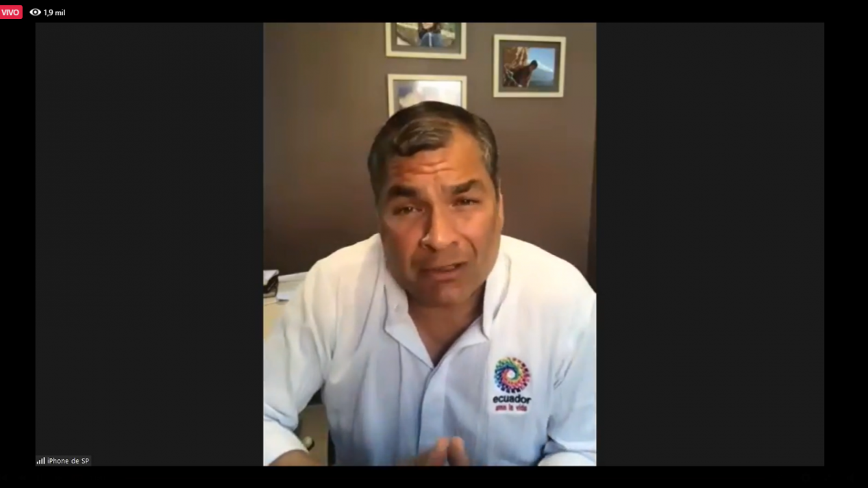 Rafael Correa denuncio que a traves del lawfare quieren impedir que sea candidato en 2021