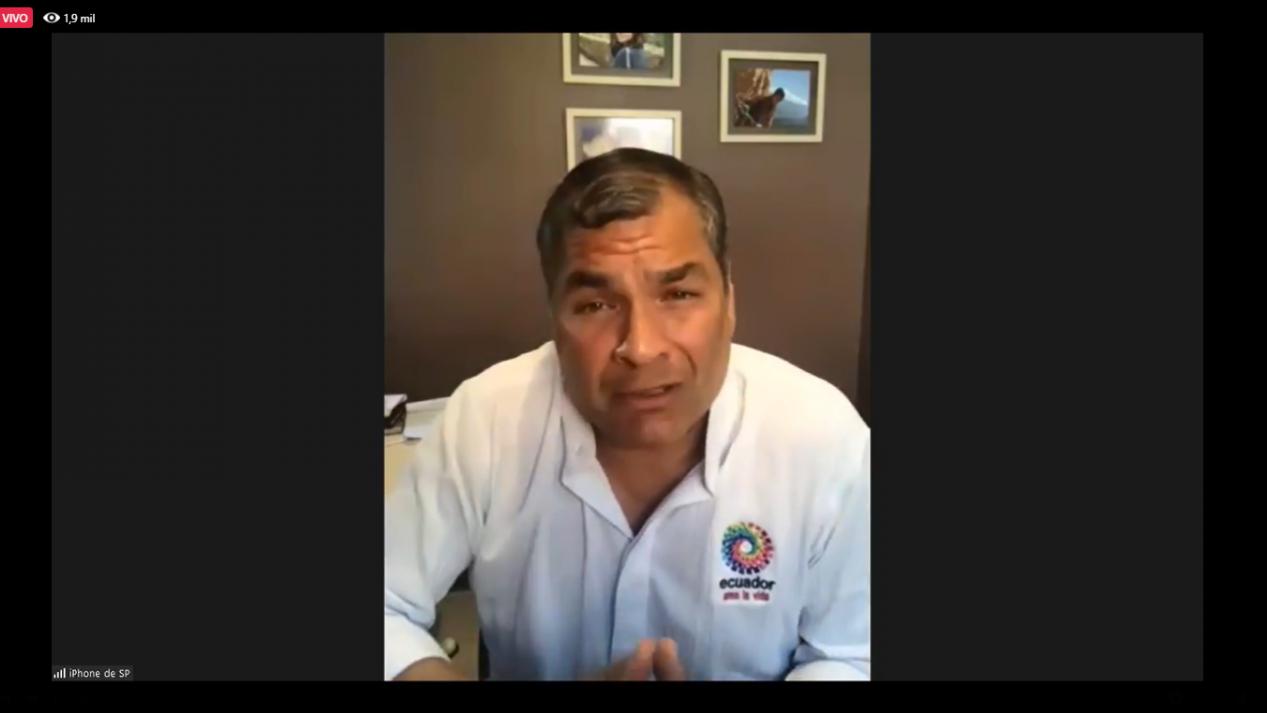Rafael Correa denuncio que a traves del lawfare quieren impedir que sea candidato en 2021