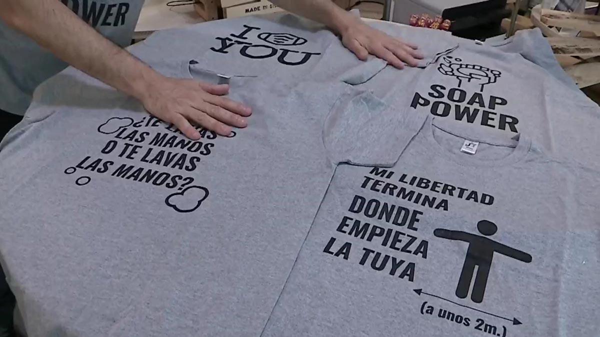 Camisetas para ayudar a captar fondos para la investigacion del covid
