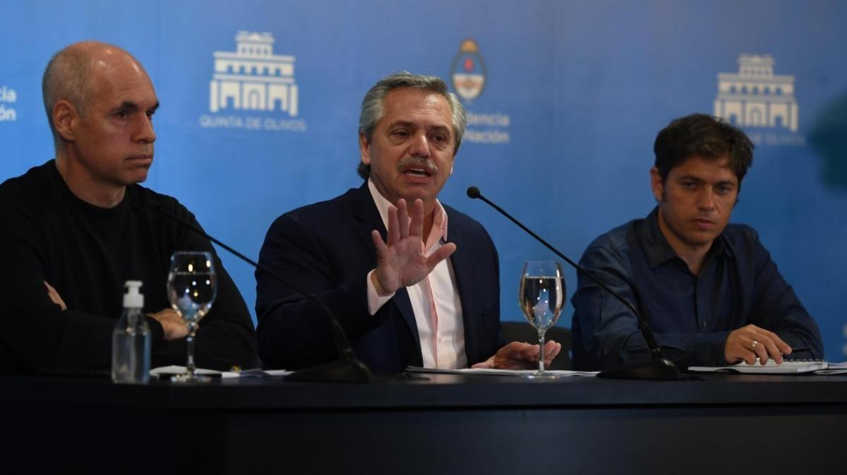 Alberto Fernandez recibira a Axel Kicillof y Horacio Rodriguez Larreta para definir el futuro de la cuarentena