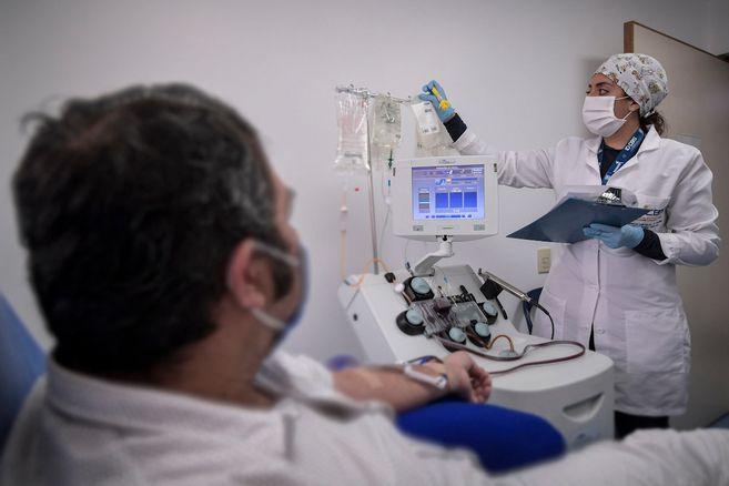 En fotos: Asi es la donacion de plasma para ayudar a pacientes con Covid-19