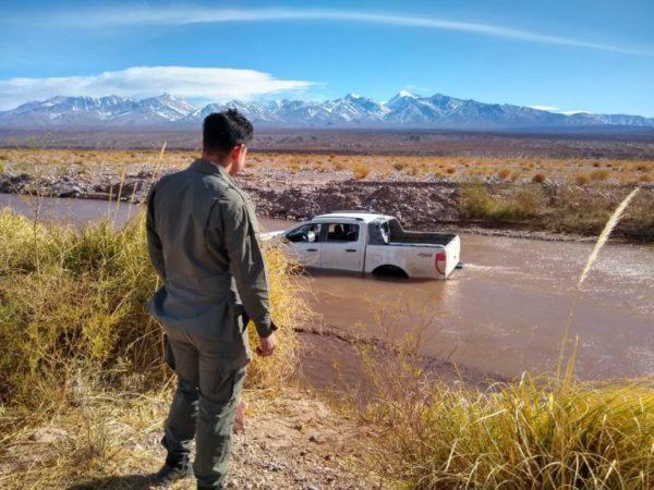 Rescate en el rio Los Patos en San Juan