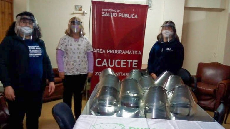 La Fundacion Garrahan entrego mascaras protectoras para el Área Programatica Caucete