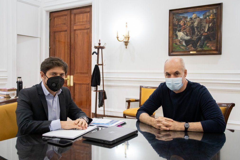 """Coronavirus en el AMBA: Kicillof y Rodriguez Larreta acordaron avanzar con una """"cuarentena diferenciada"""""""