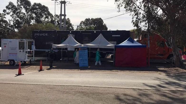 Los equipos de salud de El Encon cuentan con la asistencia del Trailer Sanitario Minero