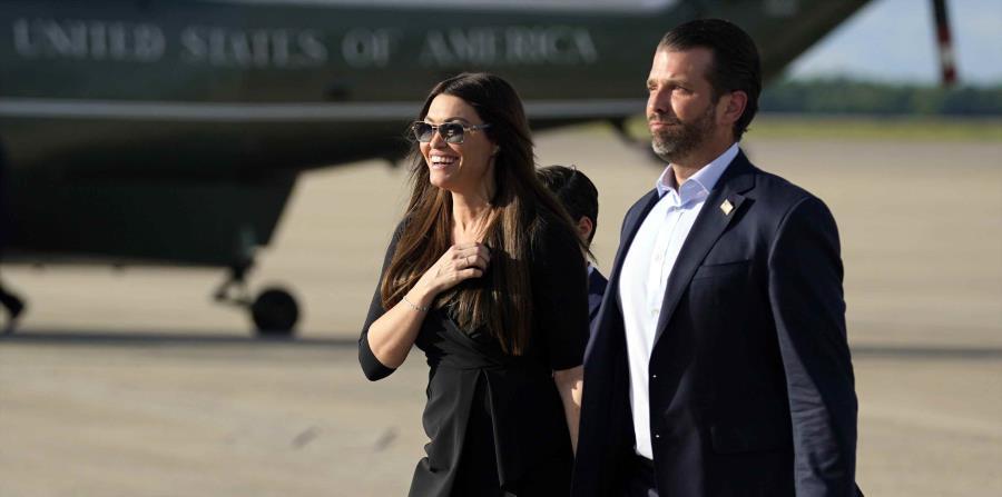 La novia del hijo mayor de Trump da positivo a COVID-19