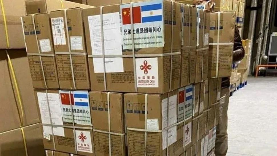 Coronavirus: llego el primer barco de China con insumos para la provincia de Buenos Aires