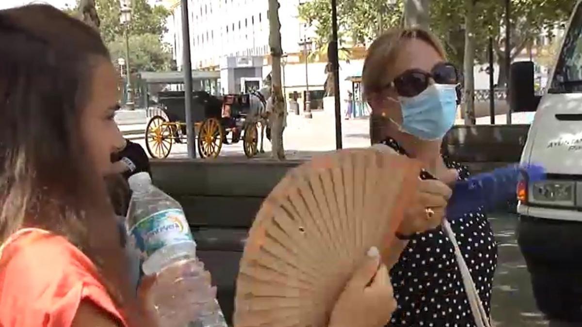 Los problemas de llevar mascarilla con el intenso calor