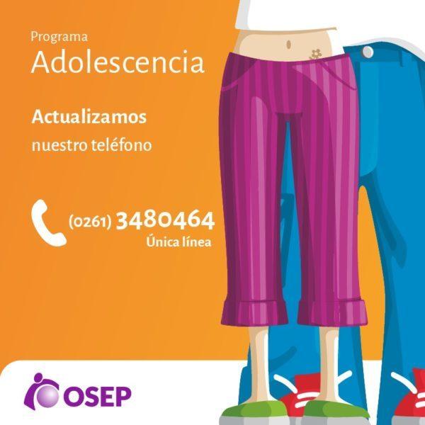 Mendoza: el Programa Adolescencia de OSEP tiene nuevo telefono