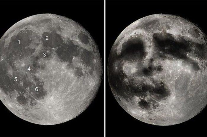 La cara de la Luna, entre Jupiter y Saturno