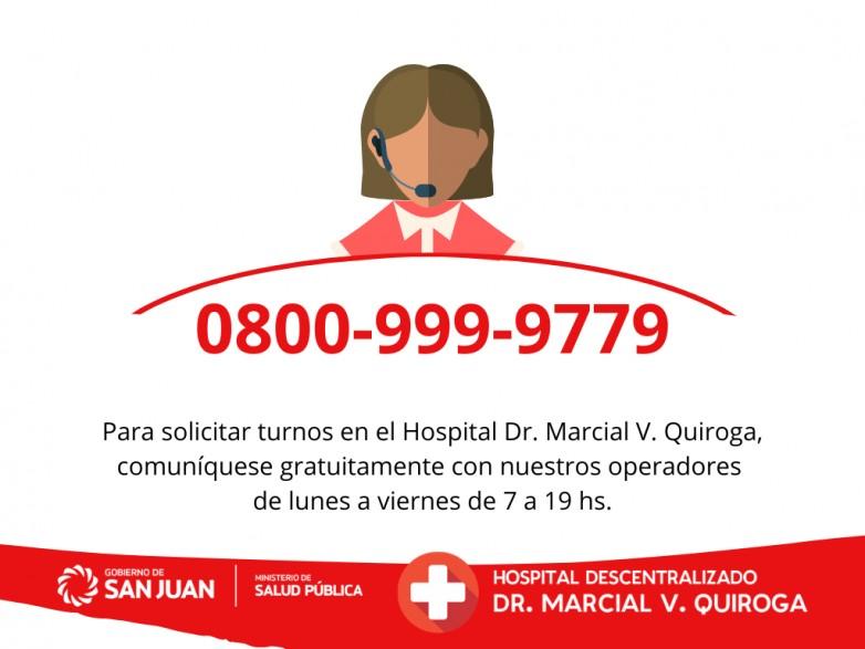 El Marcial Quiroga habilito un 0800 para solicitar turno