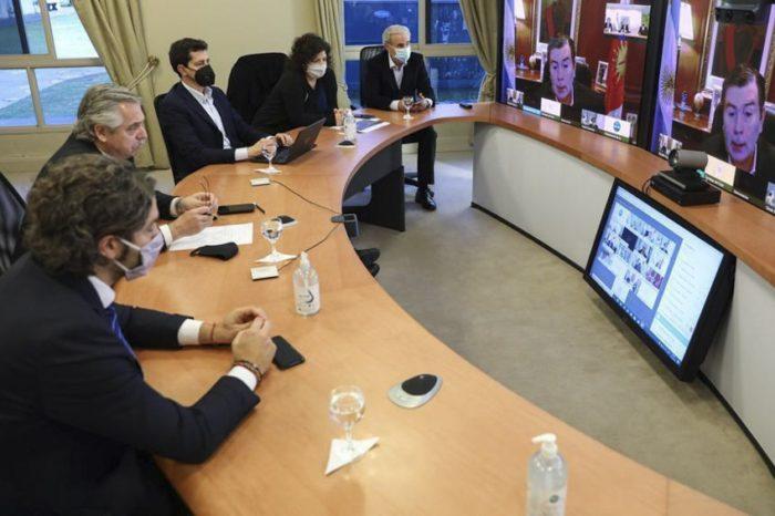 Alberto Fernandez se reunio con gobernadores para definir como sigue el aislamiento