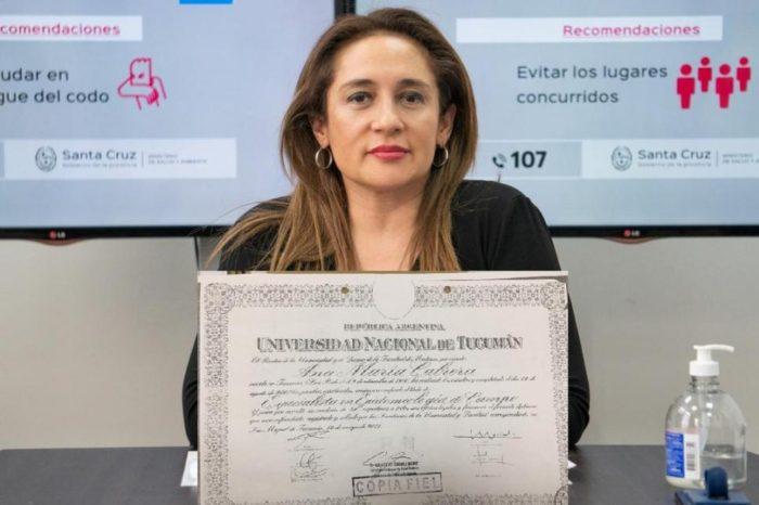 Polemica por el rol de una medica tucumana en el Ministerio de Salud de Santa Cruz