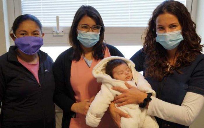 Un exitoso procedimiento salvo a un bebe en plena pandemia