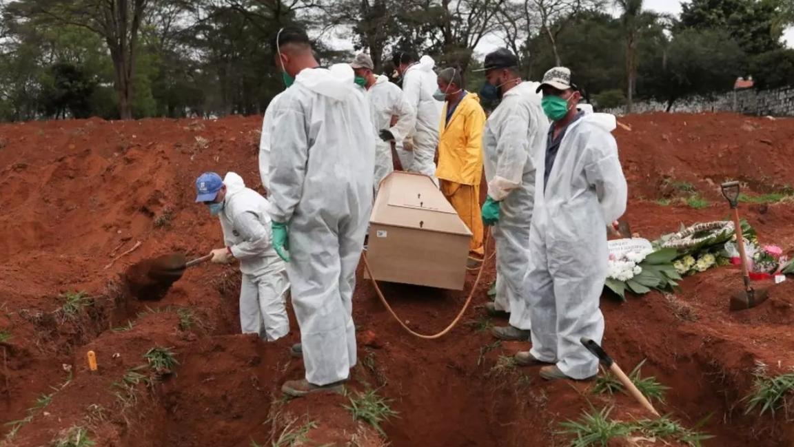El gobierno brasileño informo de poco mas de 51.000 nuevos casos y 1.400 nuevas muertes