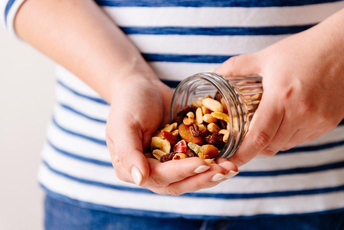 Snack saludable: un puñado de frutos secos.