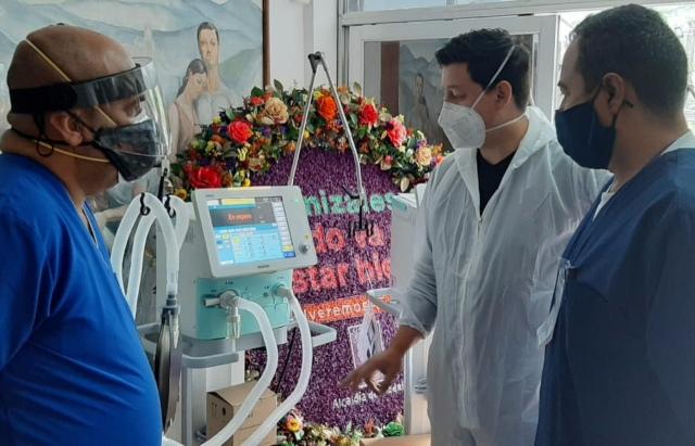 Ministerio de Salud entrego otros 10 ventiladores al Hospital Santa Sofia