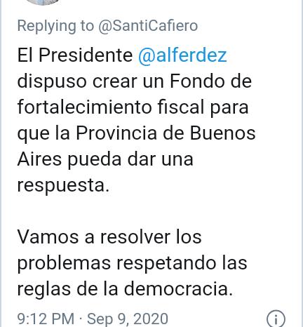 """Santiago Cafiero: """"Es improcedente el recurso que quiere presentar la Ciudad por la Coparticipacion"""""""