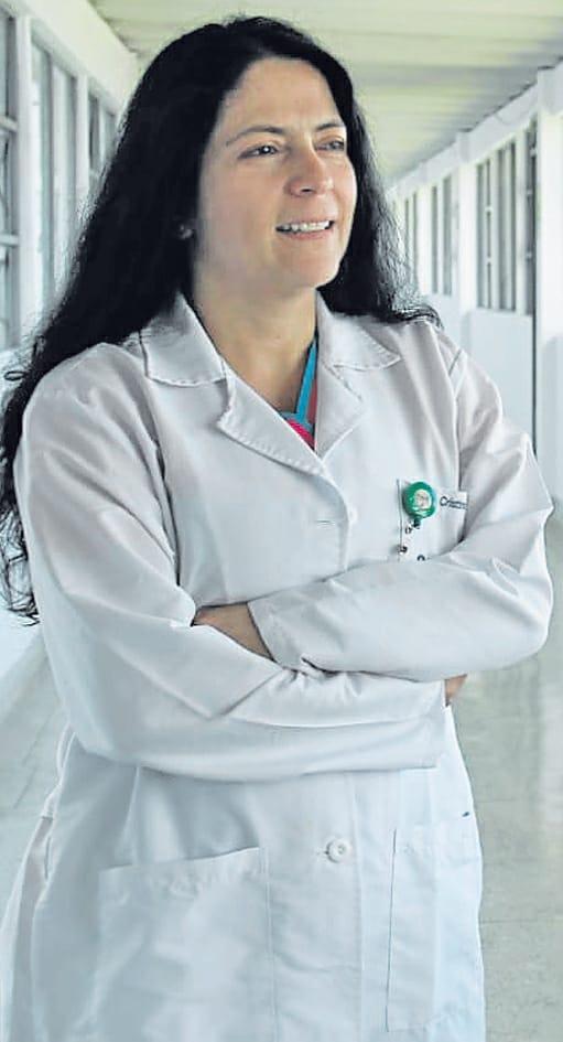 La doctora Maria Cristina Florian, de frente con la covid