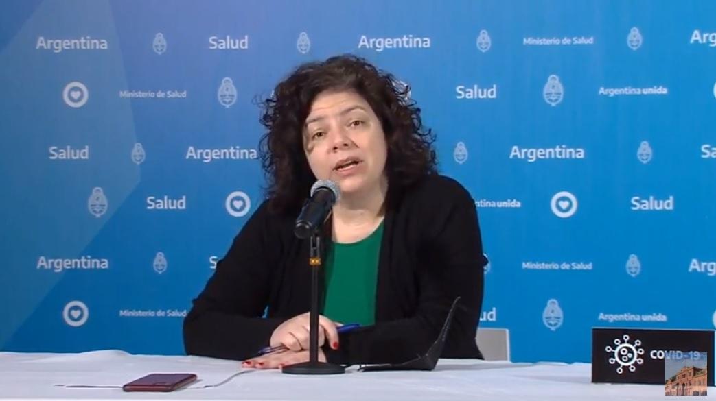 Carla Vizzotti fue la encargada de brindar el reporte matutino sobre coronavirus en Argentina