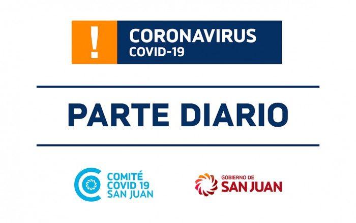 Parte de Salud Publica sobre coronavirus Nº212 - 26/09