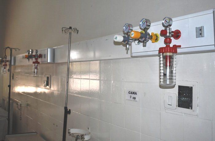 Nuevas tuberias para gases medicinales en el area Covid-19