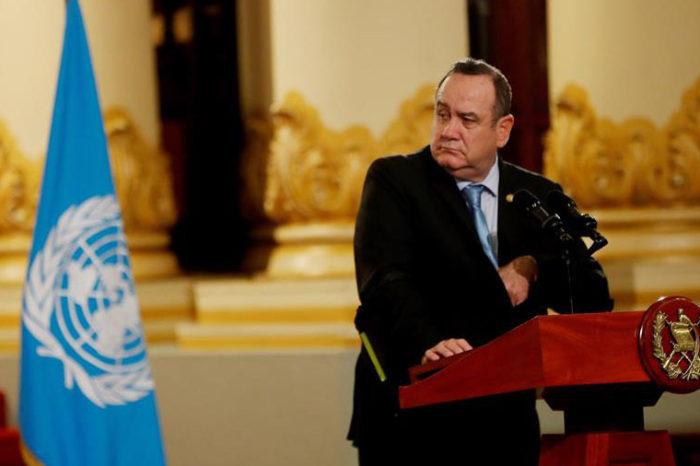 El presidente de Guatemala confirma que tiene coronavirus