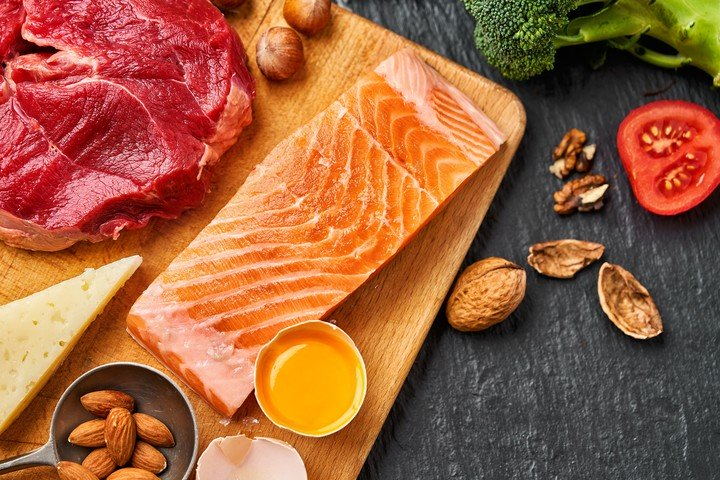 Alta ingesta de grasas saludables y minima ingesta de carbohidratos es la base de la dieta keto.
