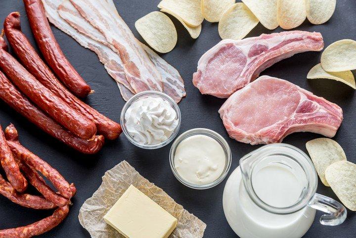Keto. Preocupa que se consuma grandes cantidades de grasas saturadas no saludables.