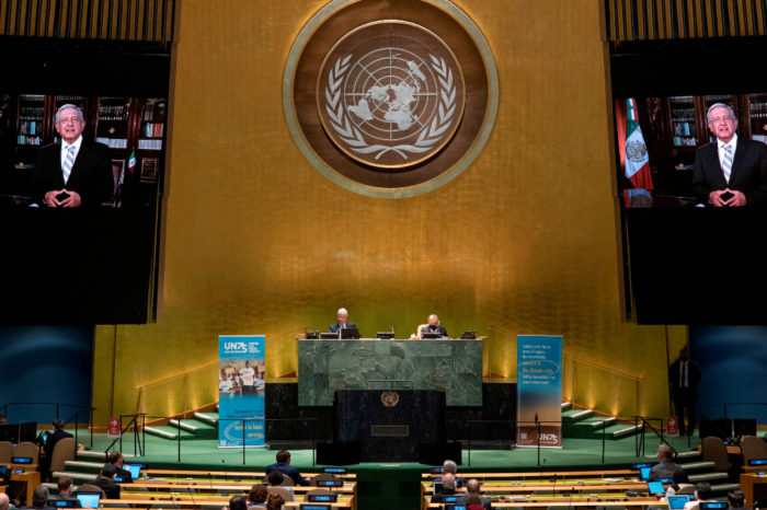 """Mexico pide """"fraternidad universal"""" ante la pandemia en la asamblea de la ONU"""
