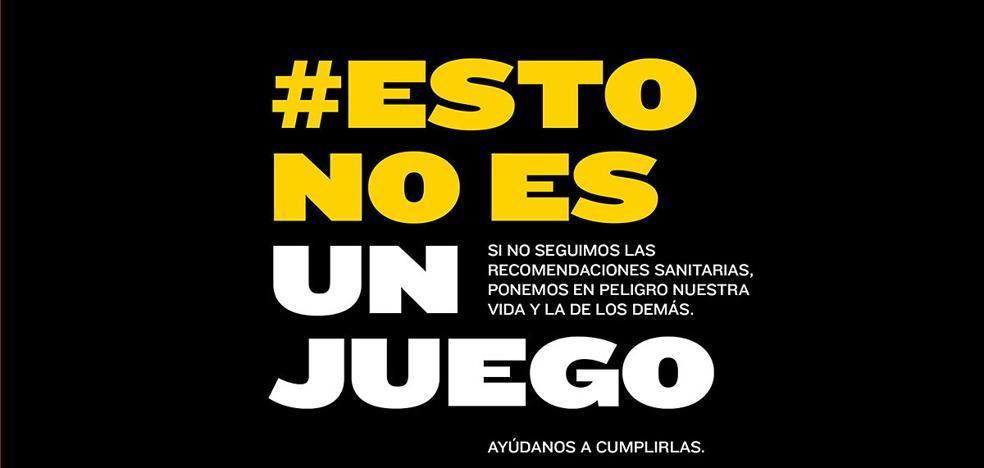 La campaña'#EstoNoEsUnJuego' refuerza el cumplimiento de las medidas contra la covid-19