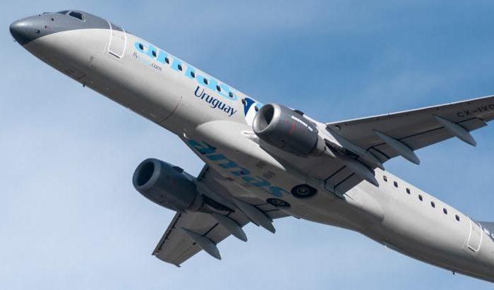 """Paraguay y Uruguay inauguraron """"vuelos burbuja"""" entre ambos paises"""