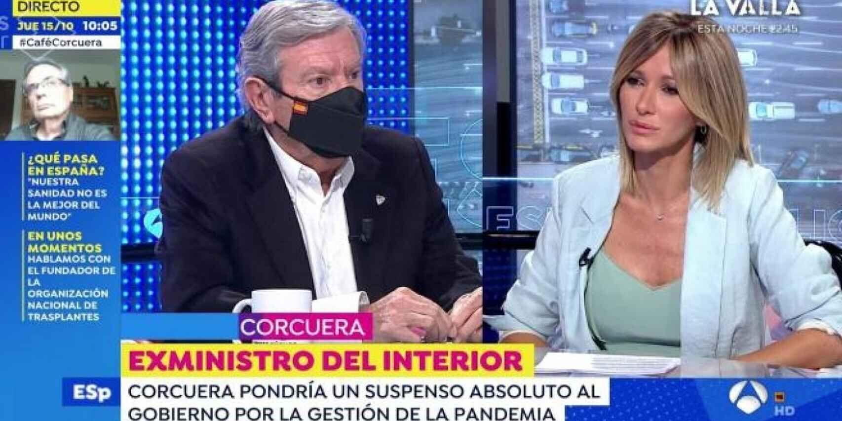 La 'descarga' de Corcuera: asi salto su desfibrilador durante la entrevista con Susanna Griso