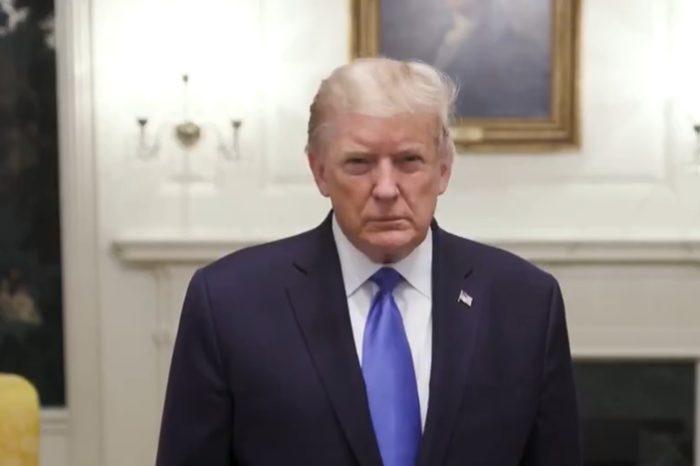 Donald Trump filmo un mensaje de agradecimiento antes de su internacion