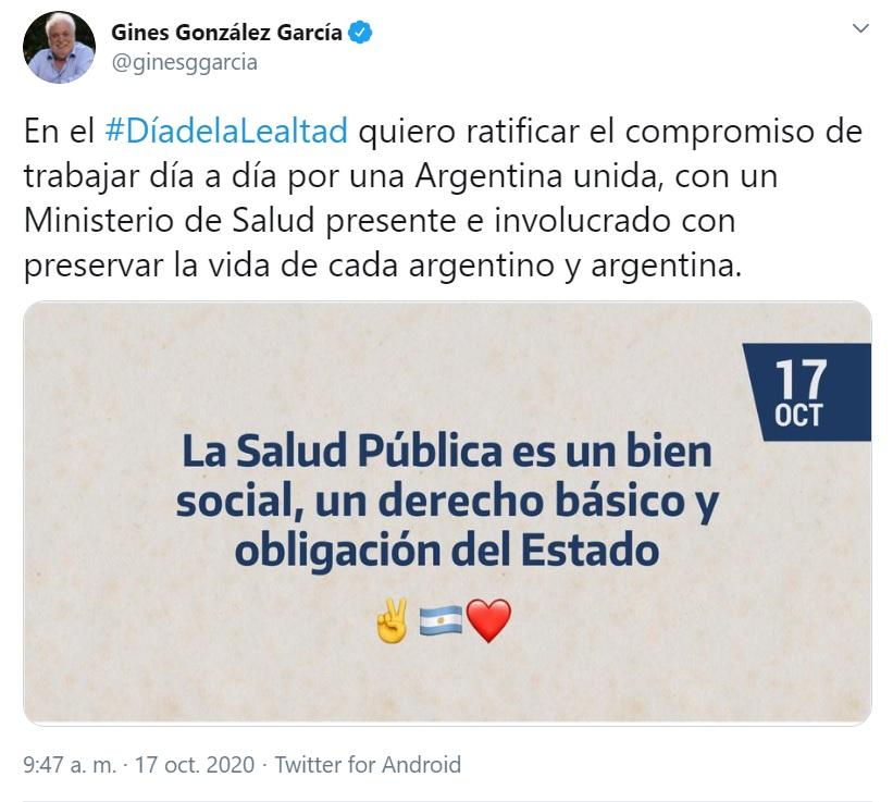 El ministro Gines Gonzalez Garcia reitero su intencion de