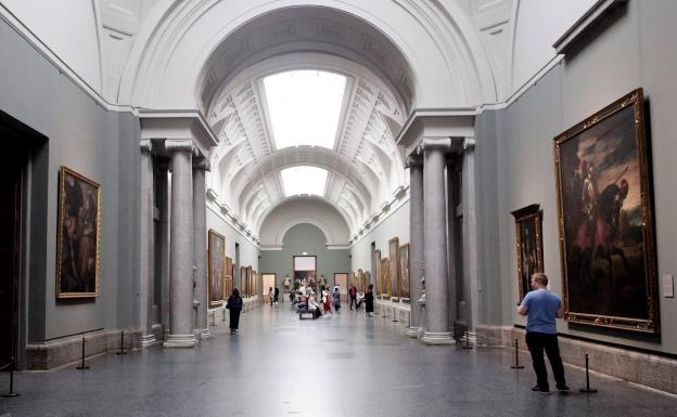 Museos semidesiertos en un Madrid enjaulado