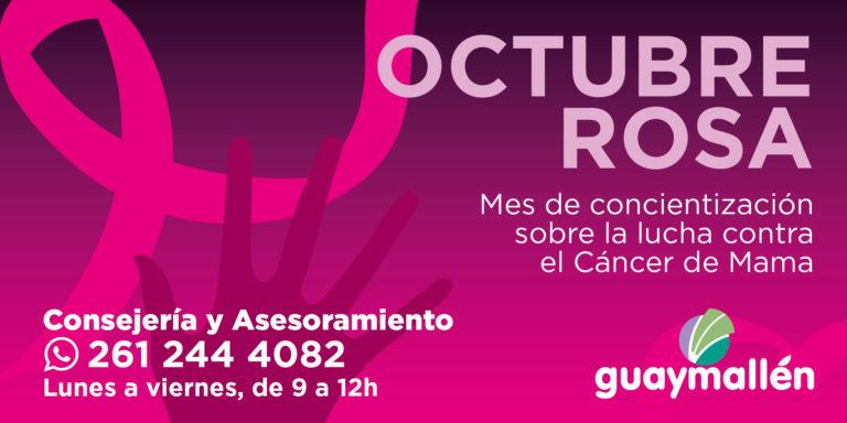 #OctubreRosa en Guaymallen: para concientizar sobre el cancer de mama