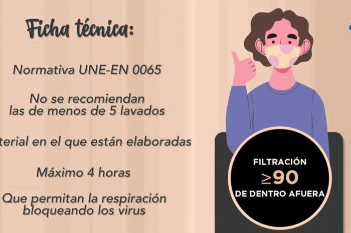 Las mascarillas de tela no deben usarse durante mas de cuatro horas, segun los enfermeros