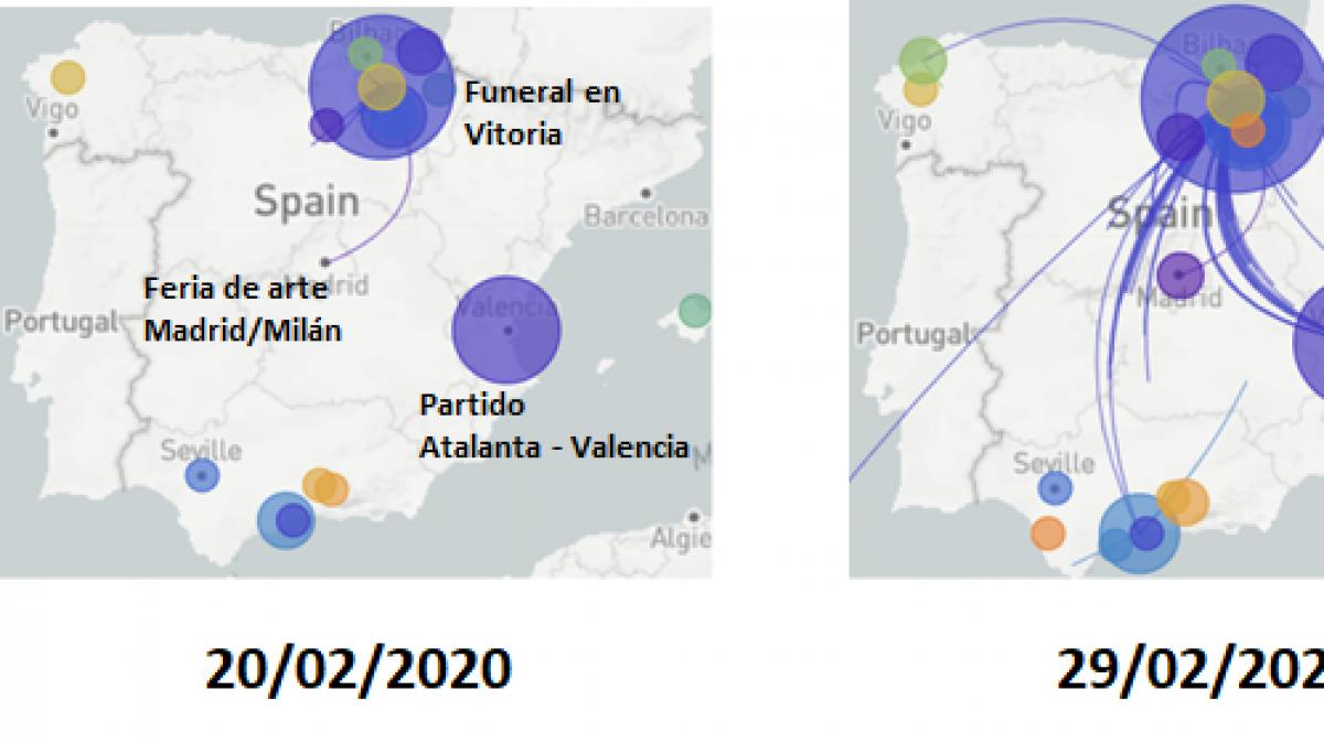 España no tuvo 'paciente cero' de Covid sino que pocos casos descontrolaron la transmision tras varios eventos