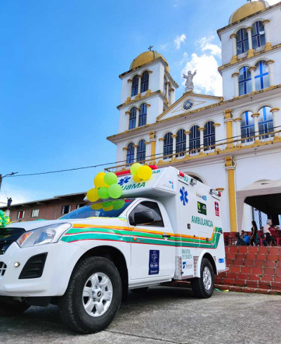 Cuatro ambulancias entran en accion
