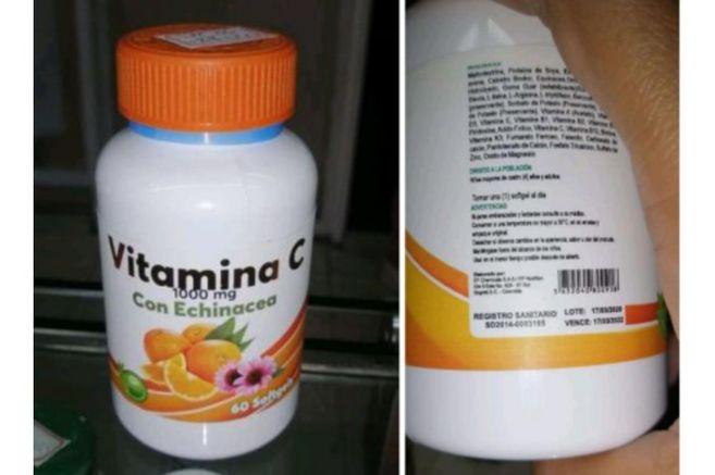 Invima alerta sobre comercialización ilegal de vitamina C