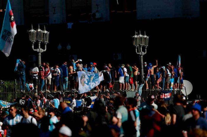 """Riesgo epidemiologico"" en Buenos Aires tras actos funerarios de Maradona"