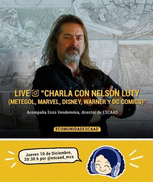 Mendoza: la Escuela de Animacion invita a una charla imperdible con el gran ilustrador y director Nelson Luty