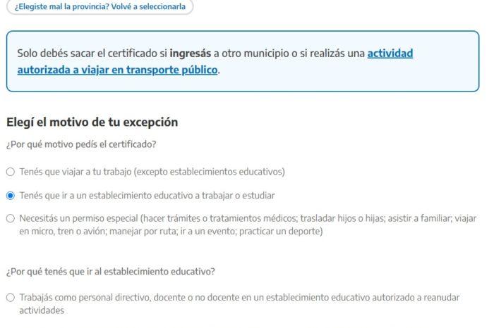 Regreso a clases: como sacar el permiso de circulacion de docentes y alumnos