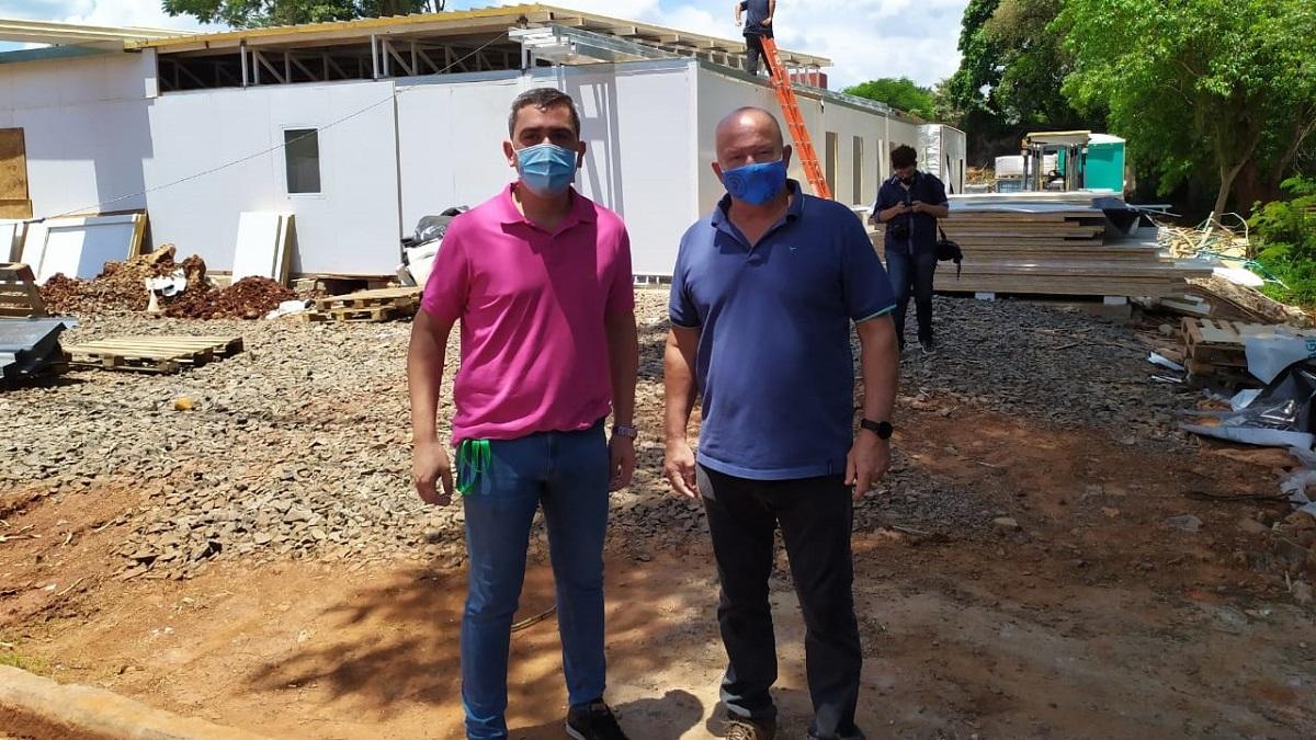 Puerto Iguazu: avanza la obra del hospital modular que estara listo en marzo